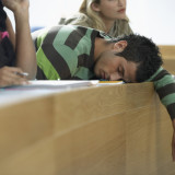 Student Asleep During Lecture